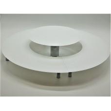 Стійка фуршетна Ultra Glass SF-45  600 300 біла