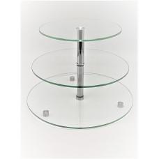 Стійка фуршетна Ultra Glass SF-15  400 280 прозора