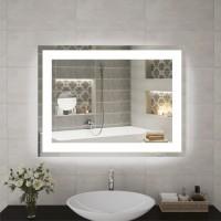 Зеркало с косметическим зеркальцем в ванную с LED подсветкой. LED зеркало. ЛЕД зеркало