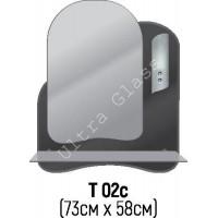 Зеркало Т-02с 73х58см с тонированной подложкой