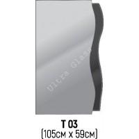 Зеркало Т-03 105х59см с тонированной подложкой