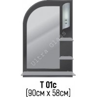 Зеркало Т-01с 90х58см с тонированной подложкой