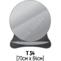 Зеркало Т-34 70х64см с тонированной подложкой