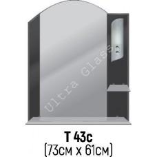 Зеркало Т-43с 73х61см с тонированной подложкой