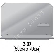 Зеркало прямоугольное с срезанными углами  З-07 с  2 полками