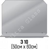 Зеркало прямоугольное с срезанными углами  З-10 с   полкой