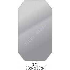 Зеркало прямоугольное с срезанными углами  З-11