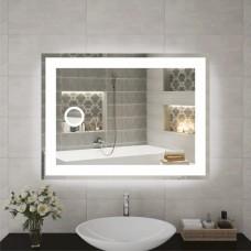 Зеркало с косметическим зеркальцем с подсветкой  в ванную с LED подсветкой. LED зеркало. ЛЕД зеркало